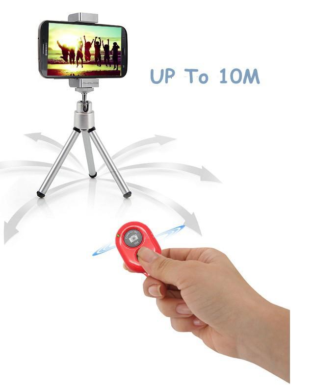 Bluetooth Remote Shutter Wireless Shutter Controller Selfie Shutter For IPhone 5 5S 5C iPad(China (Mainland))