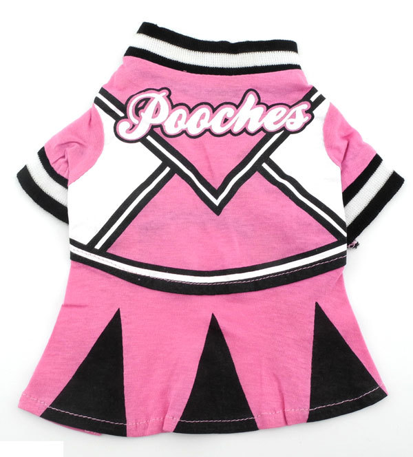 Pink and black Summer Dress Tee T shirt small dogs clothes costume - Pooches(China (Mainland))