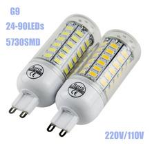 Buy 2016 Lampada LED Bulb G9 5730smd LED Lamp 24 36 48 56 70 80 90led Candle led Light Chandelier Spotlight 110V/220V for $1.15 in AliExpress store