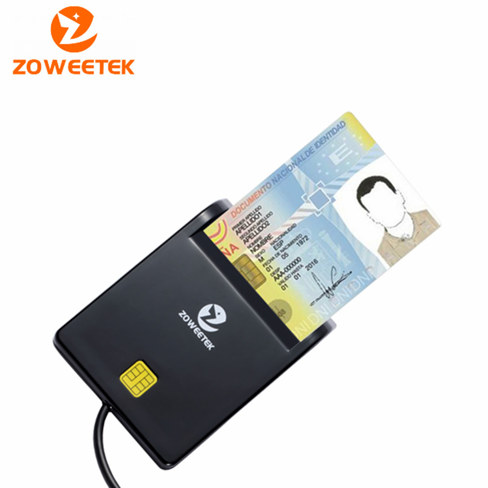 Genuine Zoweetek 12026-1New arrivel USB Smart Card Reader Support Network ATM Banking Transfers Tax Credit Card Payment(China (Mainland))