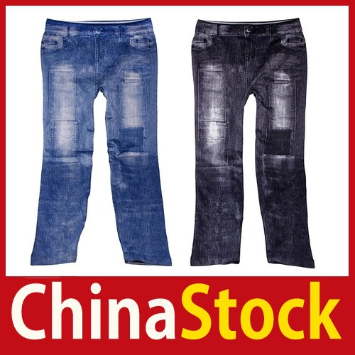 [China Stock] Women Jeggings Stretch Skinny Leggings Tights Leg Wear Pencil Pants Jeans Better Price(China (Mainland))