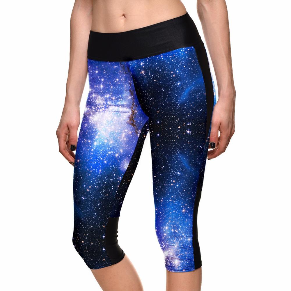 2015 Brand Leggings Milky Way Space Digital Printing Slim Jeggings Women Fashion Sport Gym Fitness Running Pants Sport Legging(China (Mainland))