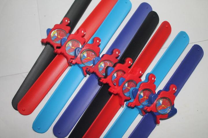 DHL/EMS Free shipping 100PCS/lot wholesale new hot sales fashion boys kids cartoon spider-man clap silicone quartz watch<br><br>Aliexpress