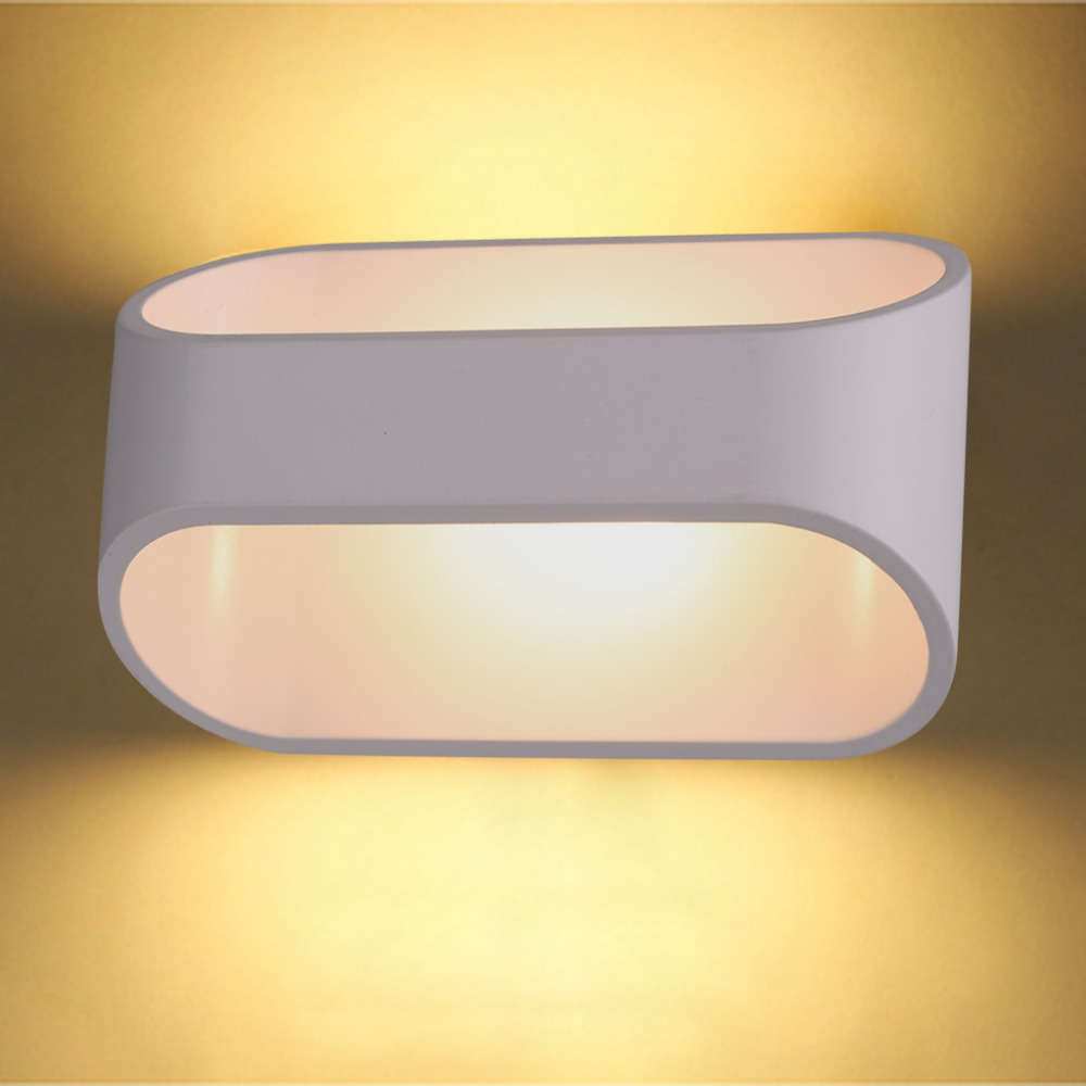 Excelvan 5W LED Wall Sconce Wall Lamp Night Light, Modern Simple Indoor Light Fixture Lamp for Bedroom Living Room(China (Mainland))