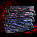 LED Backlight USB Wired Multimedia PC Gaming Crack Keyboard Adjustable the backlight brightness cooling gaming keyboard