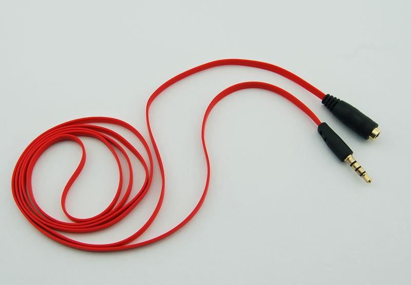 3.5mm Jack Adapter Aux Extension Cord Audio Red Cables Male to Female Plug for mobile phone for mp3 for Headphones 300pcs(China (Mainland))