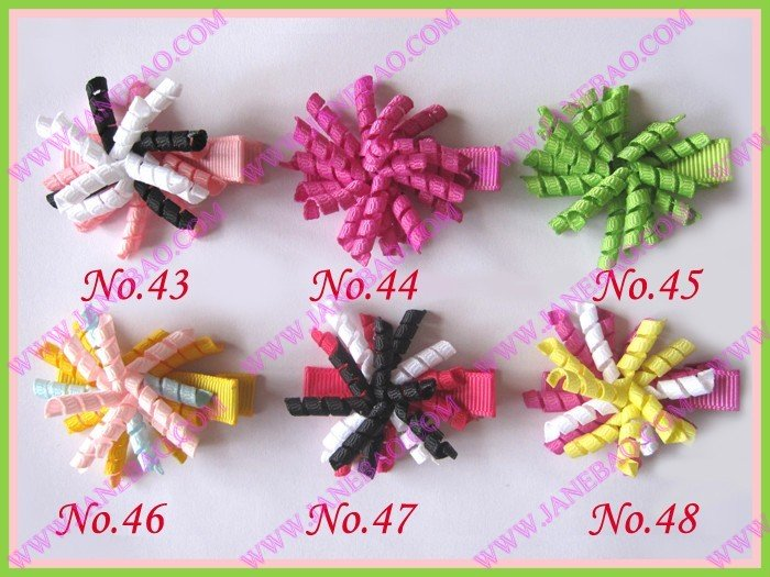 """free shipping 220pcs 1.5"""" korker hair bows (SEW ones) korker hair clips boutique corker hair clips(China (Mainland))"""