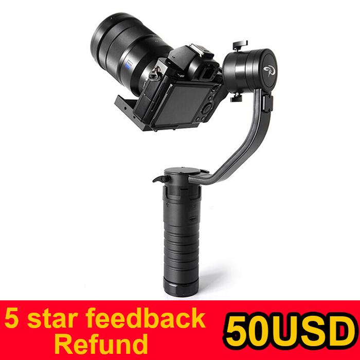 Бесплатная доставка EMS или DHL смотрящего DS1 3-Axis Handhled карданный Stabilzier поддержка Canon 5D 6D 7D DSLR лучше , чем MS1 туманность 4000 lite