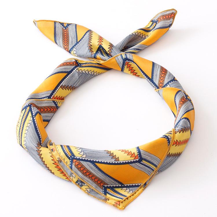 Hot Sale New 2015 Women Polygon Print Scarf Women Head Scarves Schals Sjaaltjes Sciarpa Foulard Echarpe Desigual 70*70cm(China (Mainland))