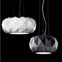 Free shipping Dia 30cm Modern glass pendant lights Deluxe diamond pendant lamp Dining room lighting fixtures PL248(China (Mainland))