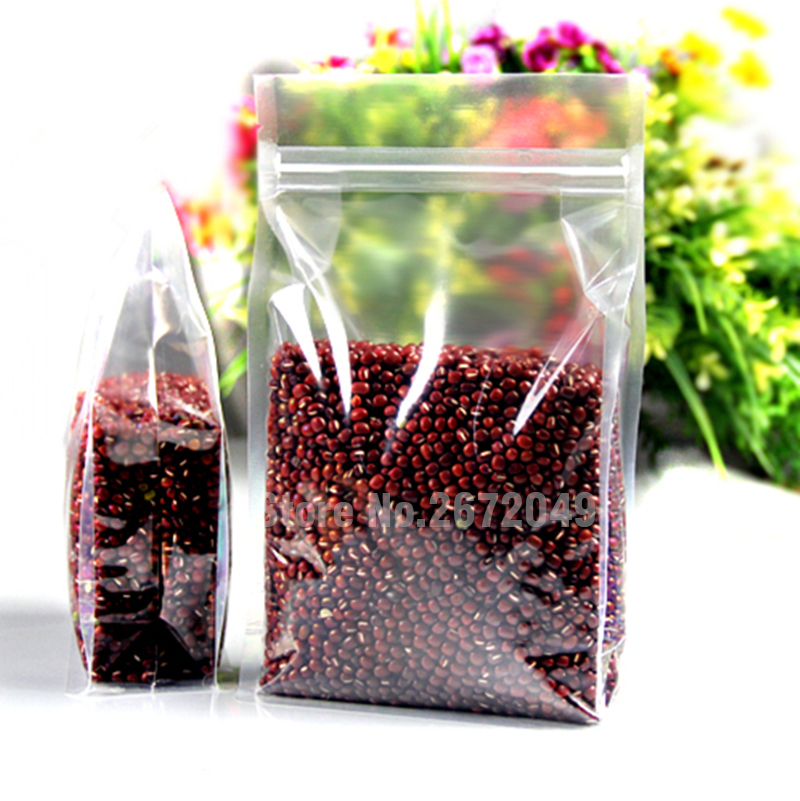 Small zip lock stand plastic pack food bag/Thicken transparent plastic packaging grains,spices,melon seeds pouch(China (Mainland))