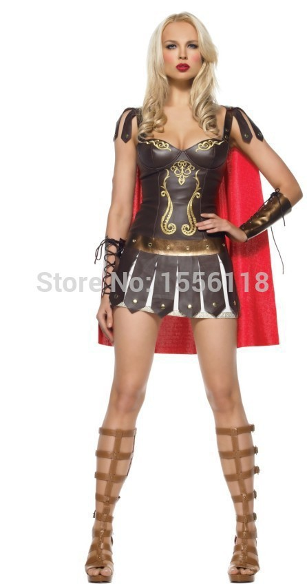 Game uniforms Sexy The ancient Greek goddess of war cosplay costume The Spanish Gladiator costumes sexy leather costumes(China (Mainland))