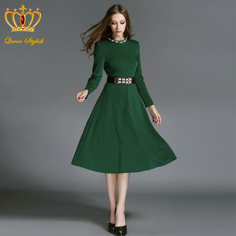 long sleeve green dresses for women « Bella Forte Glass Studio