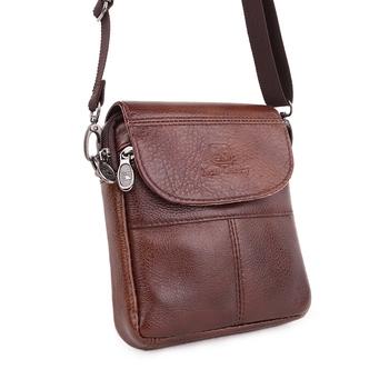 2015 Casual Vintage genuine leather men bag small shoulder bags High quality men's Messenger Bag mini bags