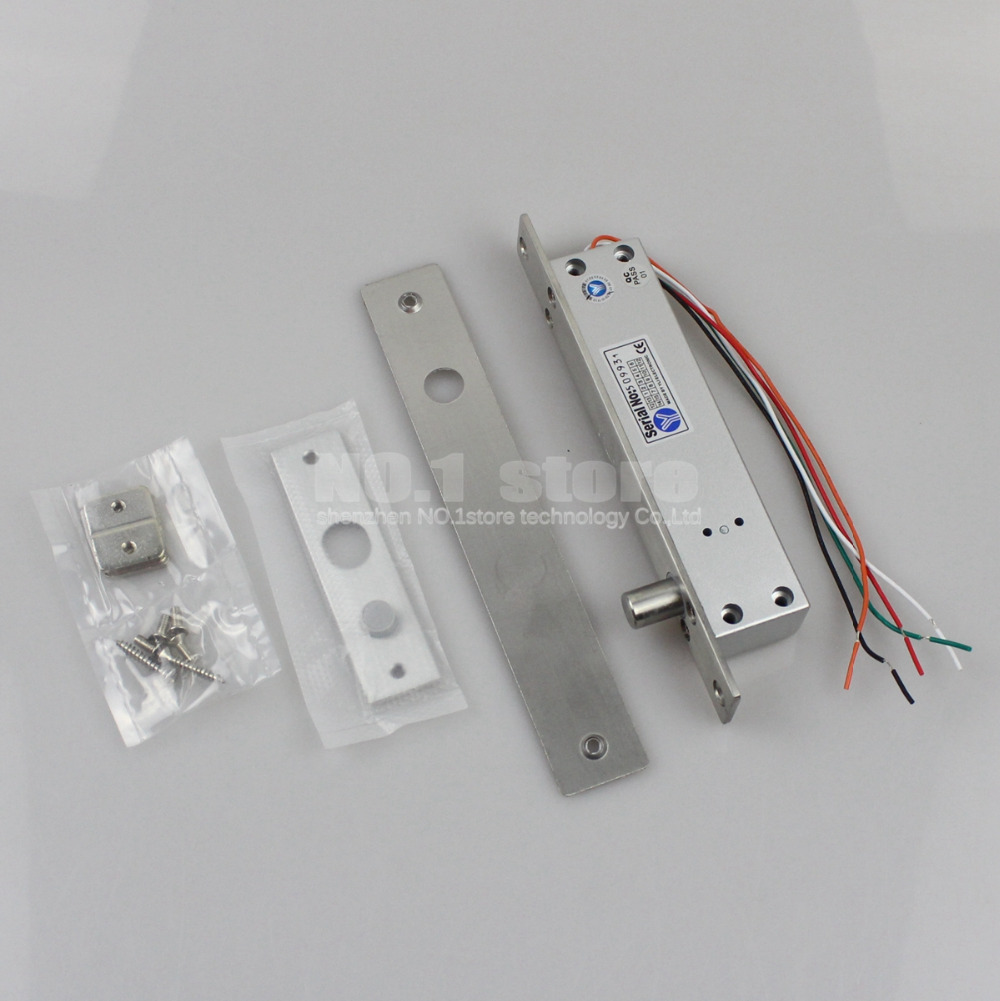 Fail Secure Narrow Door Electric Bolt Lock W/singal Time&Open Wire NO Model For Access Control System(China (Mainland))