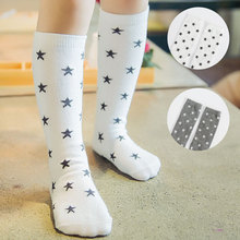 Free Shipping Cute Children Socks For Boys Sky Star Knee High Socks Kids 0-6 Years Autumn And Winter Girls Cotton Soccer Sox(China (Mainland))