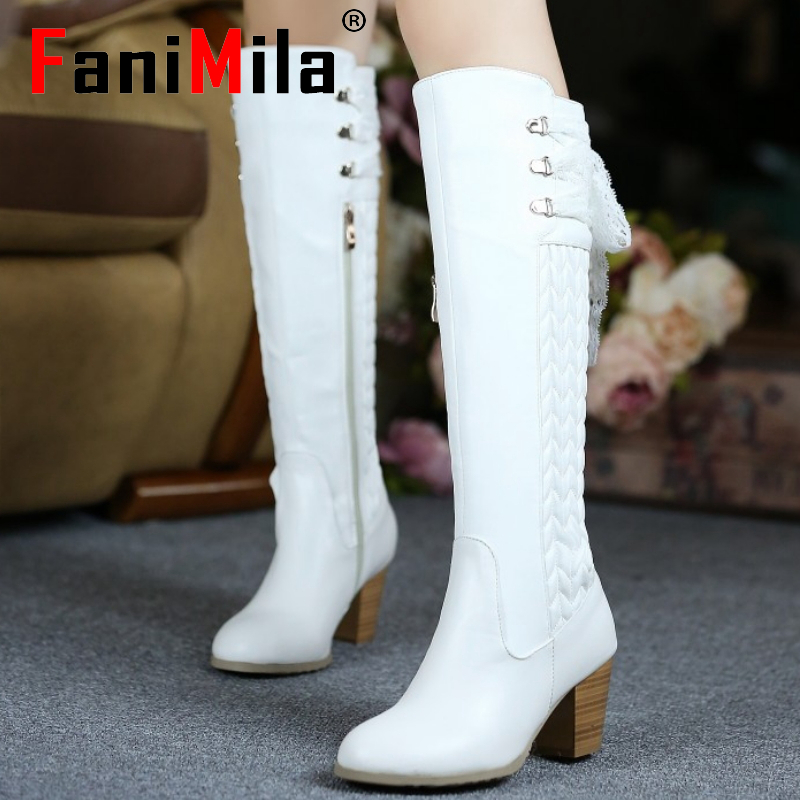 size 30-45 women real genuine leather high heel over knee boots long boot winter warm botas militares footwear heels shoes R2262<br><br>Aliexpress