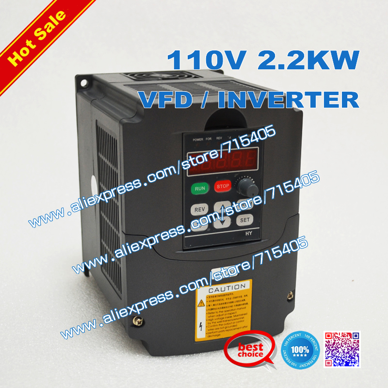 Good Quality VFD 2.2KW 110V Variable Frequency inverter Motor Machine Tools Dirve Inverter(China (Mainland))