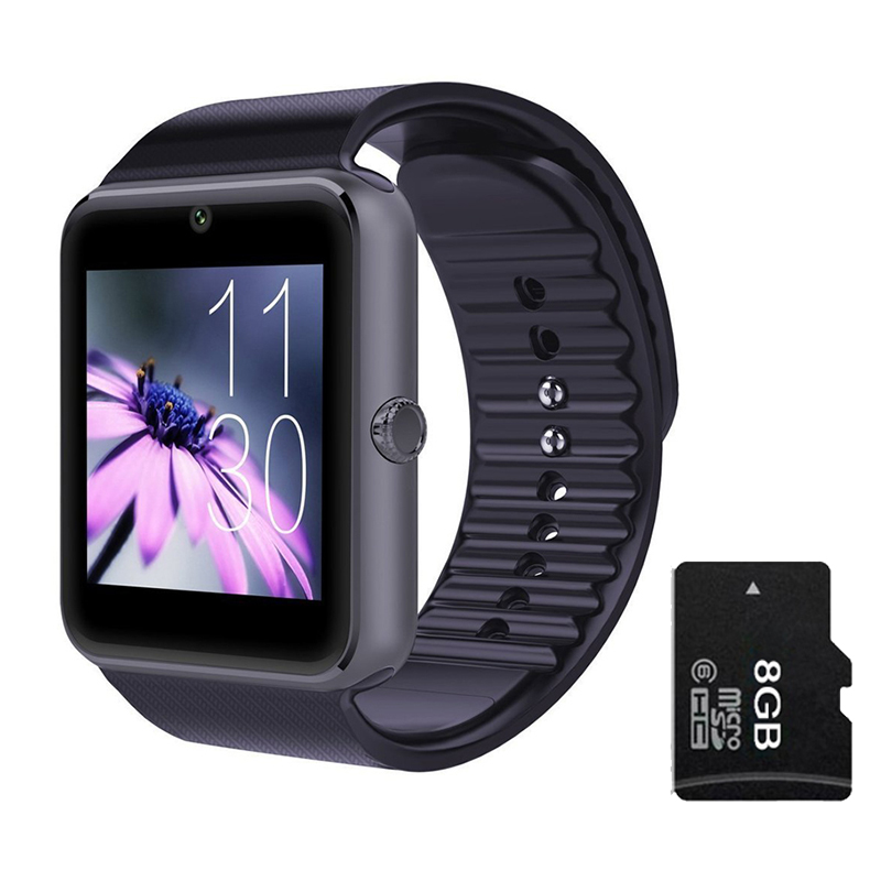 GT08 Bluetooth Smart Watch Phone With SIM Card Slot 2MP Camera MTK6260