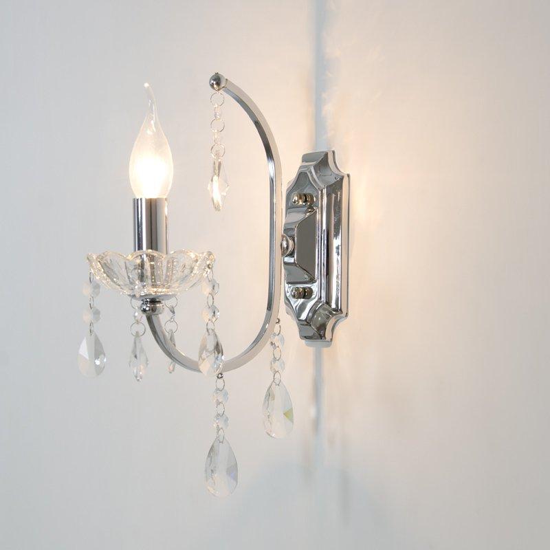 Best Crystal Wall Lights : led wall light best selling K9 Crystal chrome single E14 living room bedroom bedside aisle ...