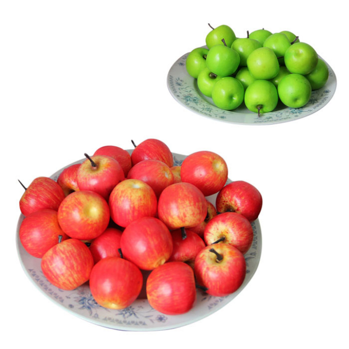 Amazing 50pcs Decorative Small Artificial Fruit Apple Photographic Props Party Home Kitchen Docoration Products(China (Mainland))
