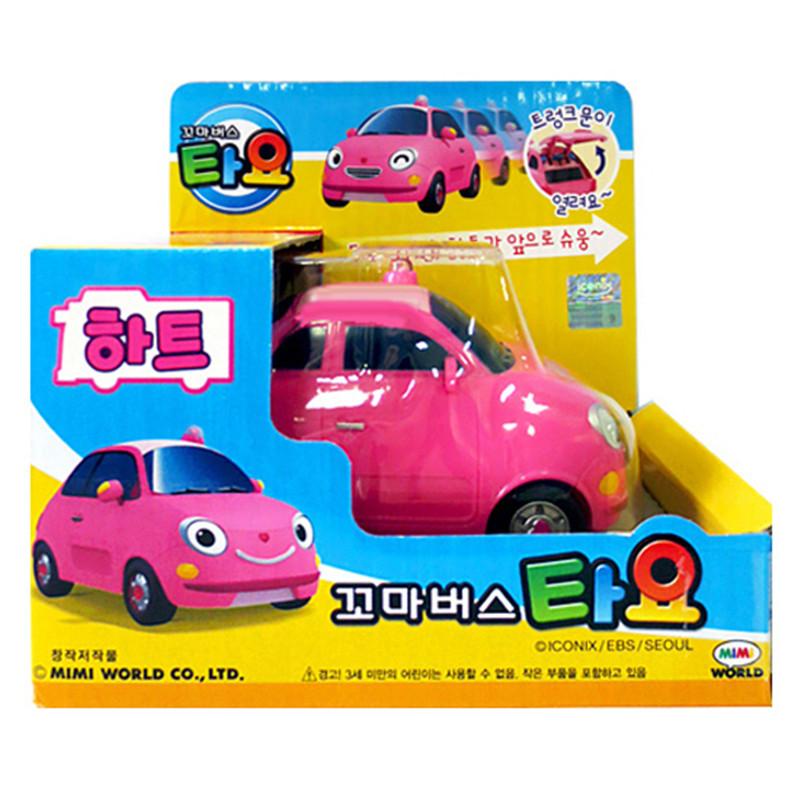 Tayo tayo bus oyuncak miniature Pink Princess sedan coche model car tayo the little bus kids brinquedos menino girl gift(China (Mainland))