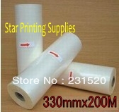 Glossy Hot roll laminating film 3 rolls 330mmx200M/roll(China (Mainland))