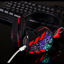 Hot style Excellent Gaming  Headphones Headset With Microphone Noise Canceling dj gamer CD-618 Headphones Parts & Accessories