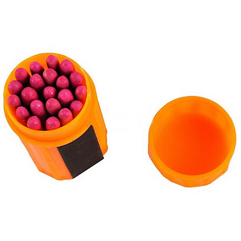 Orange Stormproof Windproof Waterproof Match Kit with 20PCS Survival Match IA788 P16 0.5(China (Mainland))