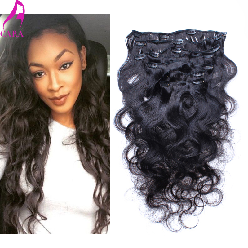 7A Malaysian Virgin Hair Body Wave Clip in Human Hair Extensions 7Pcs 120g Body Wave Clip in Hair Extensions Cara Hair Products<br><br>Aliexpress