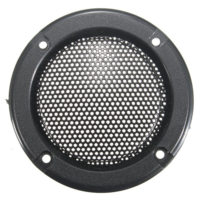 Newest !! Top Quality 2PCS 2 Inch Black Circle Speaker Decorative Circle Audio Speaker Cover Metal Protective Grille<br><br>Aliexpress