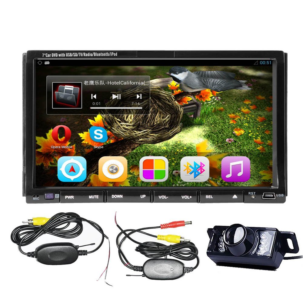 "7"" Android 4.2 Universal In-Dash GPS Car DVD Player+Wireless Camera+2 din Car Stereo Radio Head Unit PC TV Ipod USB/SD BT RDS(China (Mainland))"