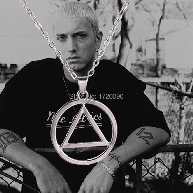 12PCS Wholesale Eminem Pendant Necklace Fashion Movie/Film/Games Jewelry Free shipping Promotion(China (Mainland))