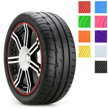 8m car styling Tire Tyre Rim care protector Hub Wheel Stickers strip for BMW volkswagen VW golf 4 Opel astra Toyota accessories(China (Mainland))