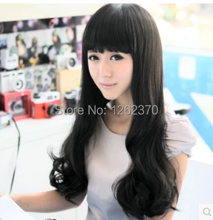 Harajuku Cosplay Wig Anime Women Girls Korean Comfortable Synthetic Hair Wig Sexy Party Long Curly WavyFull Wigs Peruca Pelucas<br><br>Aliexpress