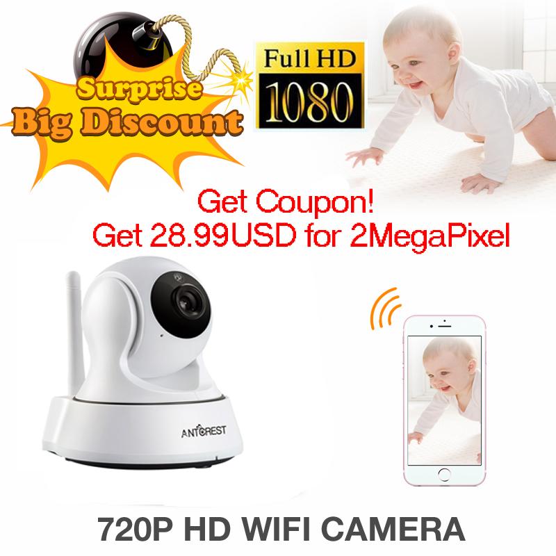 ANTCREST Mini 960P 1080P Wireless Wifi Night Vision Onvif IR Night Vision Sucurity IP Camera Wi-fi PTZ Intercom Surveillance Cam(China (Mainland))