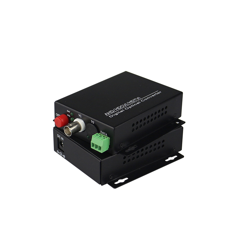 HD video AHD CVI TVI Fiber optical converter, 1-CH 720P 960P video fiber optic transmitter with reverse RS485 data(China (Mainland))