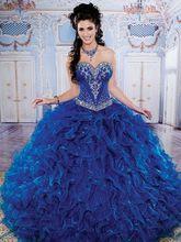 2016 Beautifull Sweetheart Blue Quinceanera Dresses Ball Grown vestidos de formatura 15 anos Custom Made (Q9) - sanyang xu's store