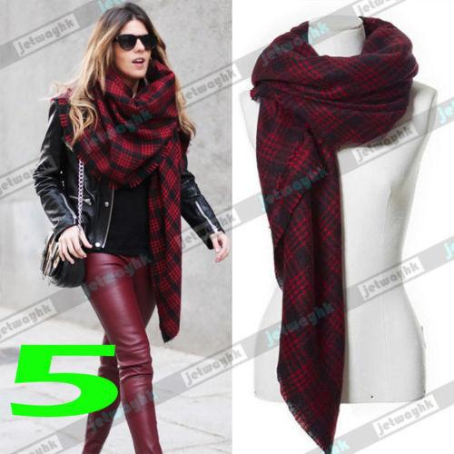 2015 new arrival Blanket Oversized scarf women Lady Tartan Scarf Wrap oversized Shawl Plaid Cozy Checked Pashmina(China (Mainland))