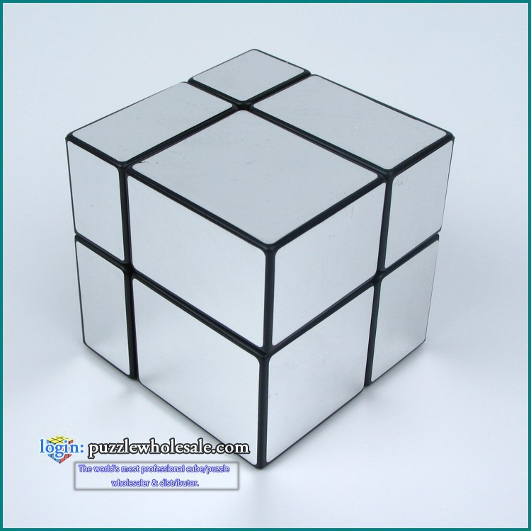 New FangGe Mir-Two 2x2 Mirror Cube 2x2x2 Mitu Cast Coated Magic Cube Silver/Golden(China (Mainland))
