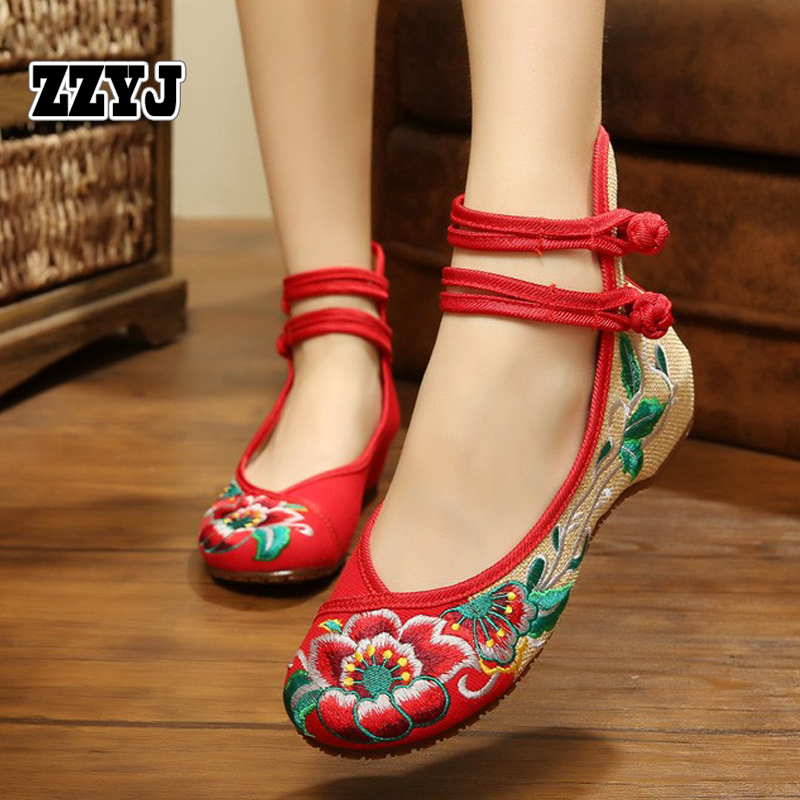 ZZYJ factory wholesale casual women's flat shoes top fashion ethnic style flowers flat heels ballet shoes cheap promotional(China (Mainland))
