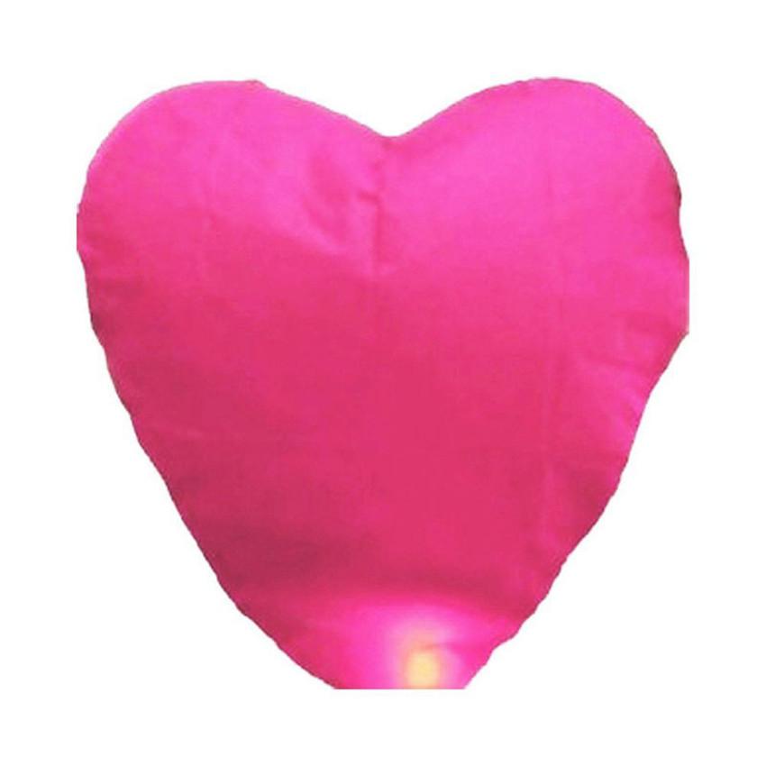 10Pcs/set Love Heart Sky Lantern Flying Wishing Lamp Hot Air Balloon rose colour Kongming Lantern For Birthday Party(China (Mainland))
