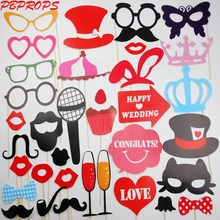 Buy 34PCS Photo Booth Props DIYMustache Lips Wedding Party Photobooth props Bunny Cat Mask 2017 Wedding Party Decoration photo booth for $2.60 in AliExpress store