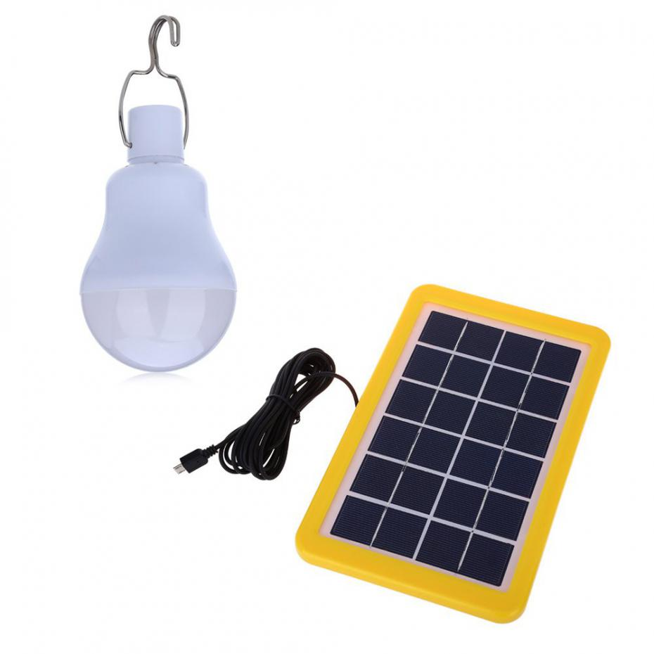 Portable 4W LED Solar Powered Light Bulb Solar Led Lights IP65 Waterproof for Outdoor Camping,Hiking,Home lighting Solar Lamp(China (Mainland))