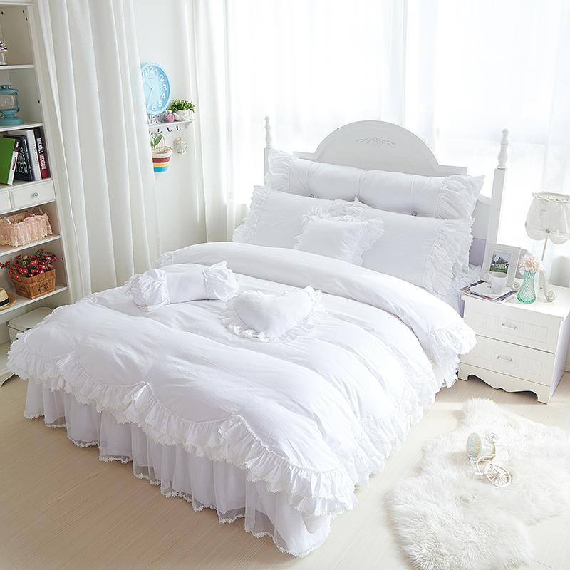 excellente qualit blanc dentelle couvre lit achetez des. Black Bedroom Furniture Sets. Home Design Ideas