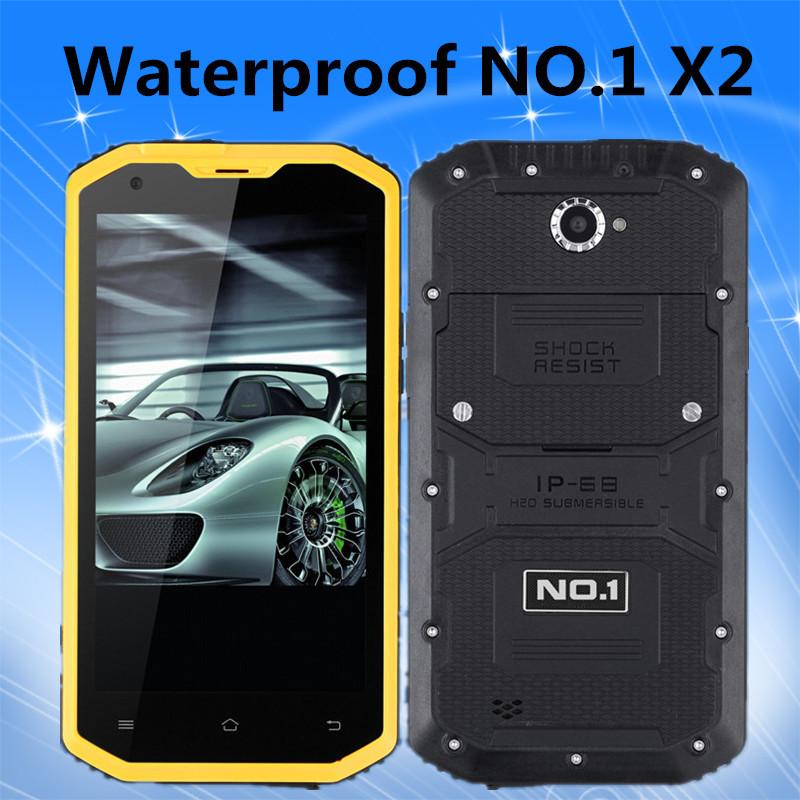 Original No.1 X2 4G LTE Waterproof IP68 Mobile Phone 5.5inch 1280 x 720 MSM8916 Quad Core 1GB RAM 8GB ROM 13.0MP Dual Camera GPS(China (Mainland))