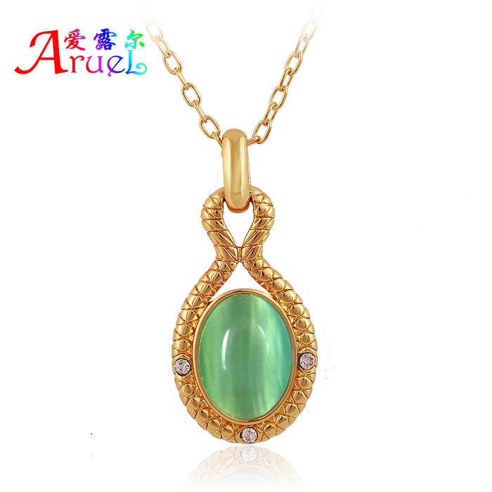 collares fashion 18k gold jewelry opal cameo natural stone pendant chain necklaces for women 2015 accesorios mujer collier femme(China (Mainland))
