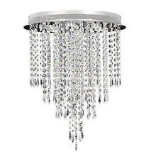 Led Ceiling Lamps , 6 Light , Artistic Crystal Plating Modern Simple Artistic K9 Crystal Pendant Lights Free shipping(China (Mainland))