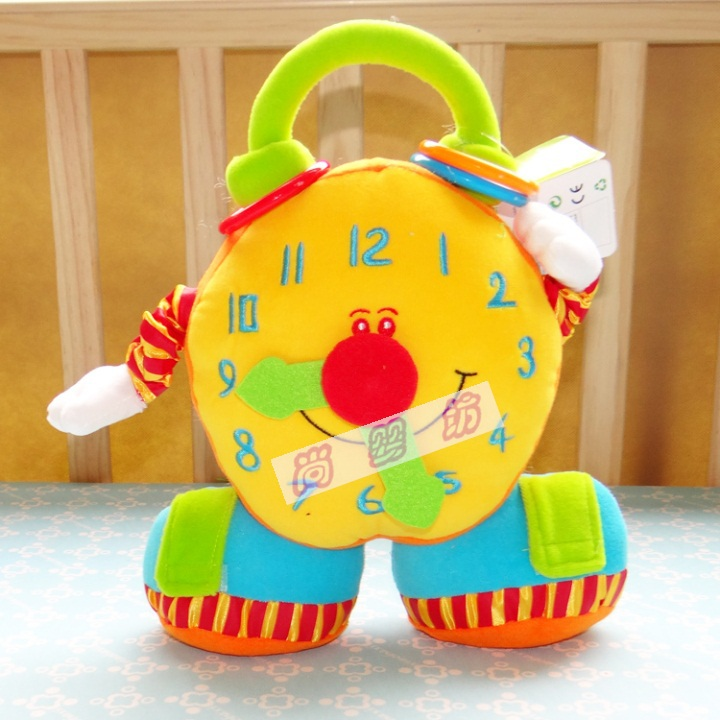 0-1 years old baby bell toys, Educational toys children big clock hand shake cloth toys,Retail - Baby Corner Store store