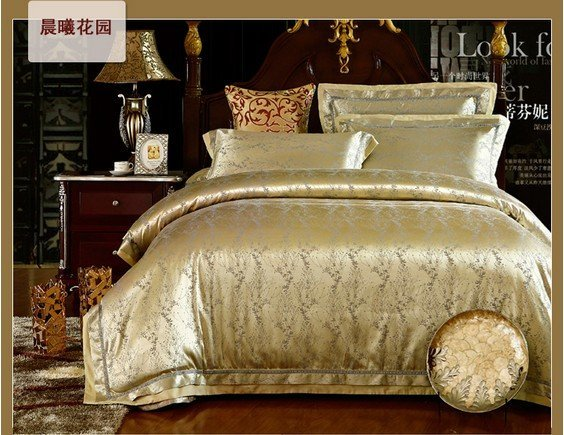 $10 off per $100 order 120442  100% Tencel 4pcs bedding set  /  Luxury European textile /bedding set  free shipping